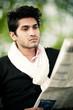 homme métis lecture journal