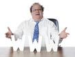 homme d'affaires comblé heureux avec www