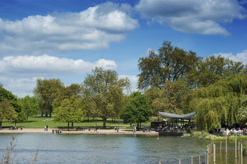 Serpentine Lake in Hyde Park London