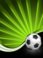 Sport background with soccer ball