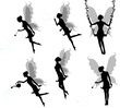 Silhouettes of a fairy.