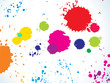 abstract colorful rainbow splashes