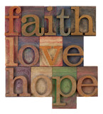 faith, love and hope poster