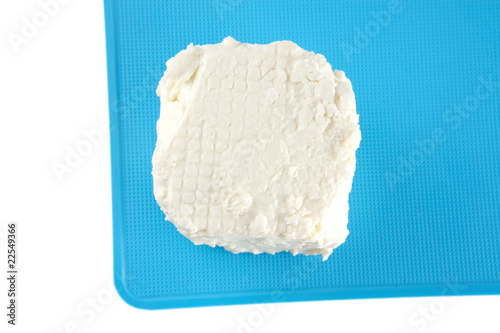 light cheese on plate