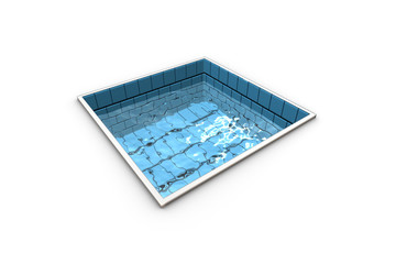 Funny representation of a swimming pool