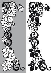 uvas decoración etiqueta
