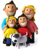 Fototapety Famille et chien