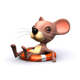 3d mouse waits for rescue