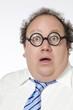 homme d'affaires lunettes d'idiot