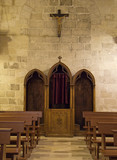 Indoor St. John the Baptist Church. Matera. Basilicata.