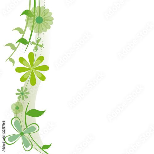 vecteur d 39 une plante grimpante avec fleurs vertes sur fond blanc stock image and royalty free. Black Bedroom Furniture Sets. Home Design Ideas