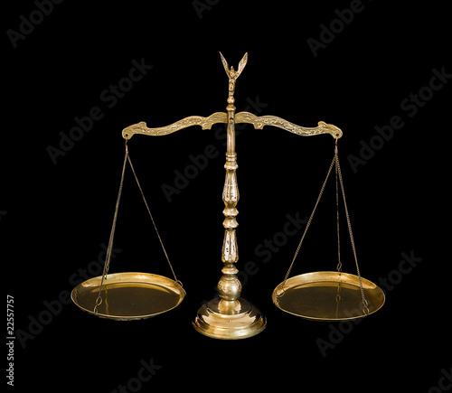 Balanced brass scales