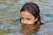 baignade dans le lac
