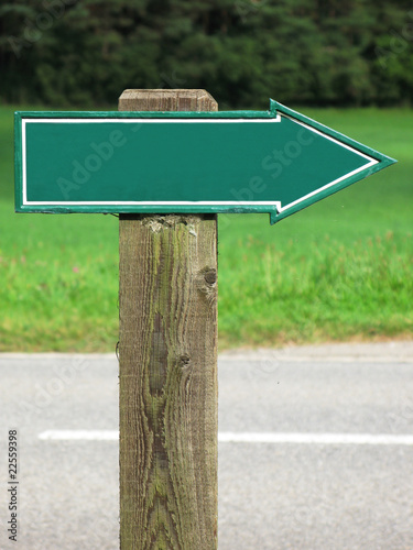 Empty road sign