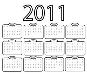 Simple 2011 Calender