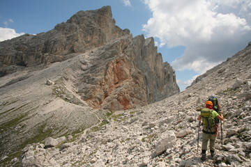Mountaineering, Dolomites, Italy