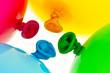 Bunte Luftballons. Symbol für Leichtigkeit, Freiheit, Feiern