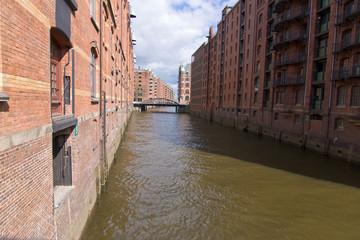 Speicherstadt, Hamburg, Lagerhauskomplex, Fleet