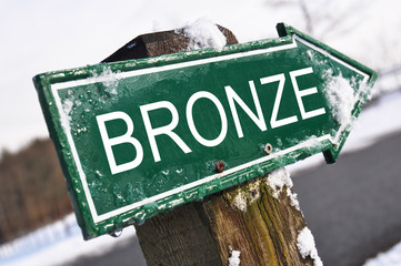 BRONZE road sign