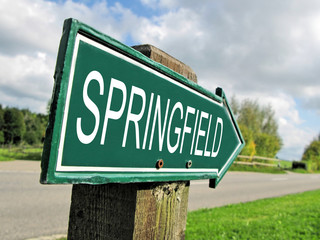 SPRINGFIELD road sign