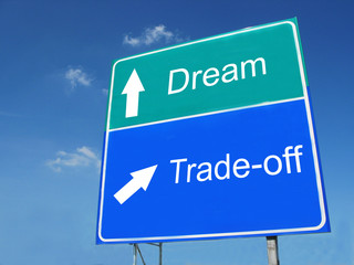 DREAM-TRADEOFF road sign
