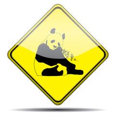 Señal oso panda