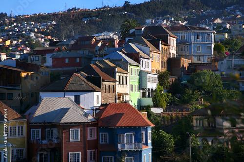 Wohnhäuser am cerro, Valparaíso / Chile