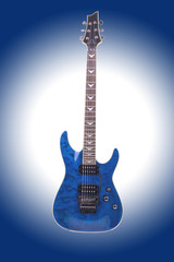 electric guitar isolated on gradient background