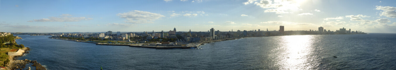 Habana bay and waterfront panorama