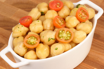 chickpeas with cherry tomatoes