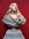 Bust of Sir Christopher Wren dated about 1673 poster