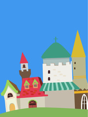 Vector drawing of home.cute and colorful