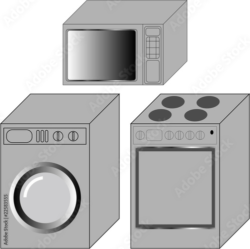 vector illustration of household devices