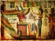 Quadro old egyptian papyrus