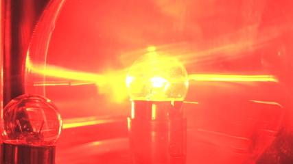 Spinning Red Emergency Flashing Light Siren