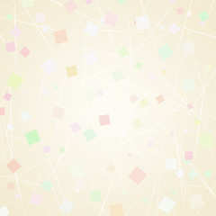 Soft, beige background with pastel colors