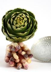 asperges et artichaut