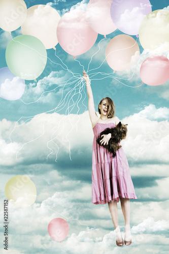beauty girl on a air ball - 22587152