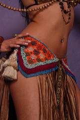 ethnic bellydancer woman body