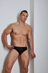 Athletic man with six-pack abs