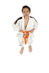 a young sporter in a kimono
