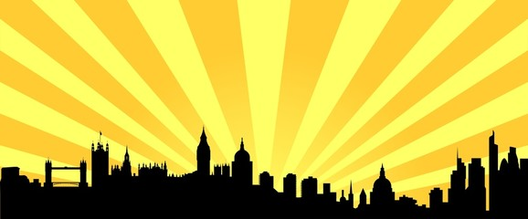 Londons orange Sunburst skyline