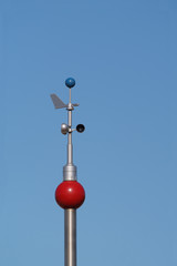 Weather Instruments against blue sky