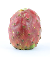 Cactus pear on white background