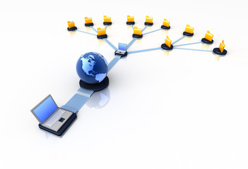 Global connection of computers
