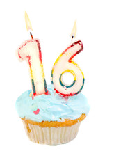 Sixteenth birthday cupcake