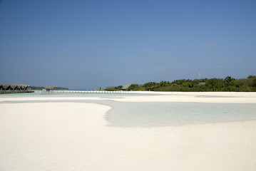 Low tide at Maldives