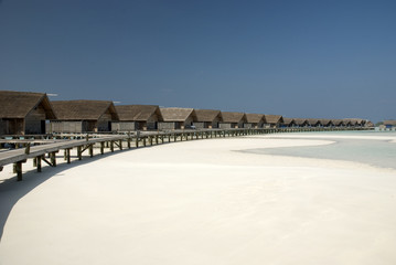 Overwater Villa with low tide