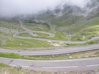 Transfagarasan road - highest altitude road in Romania.