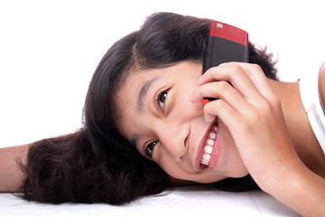lady with mobile phone